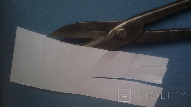 Ножницы по металлу 375 мм напайки из самокальной стали, фото №5