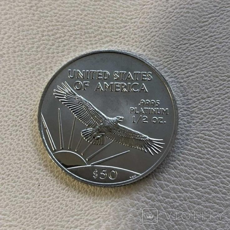 50$ США 2000 год  платина 15,5 грамм 999,5`, фото №3