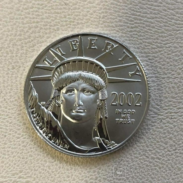 50$ США 2002 год  платина 15,5 грамм 999,5`, фото №2