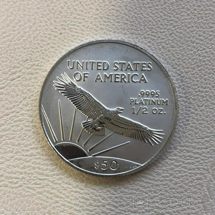 50$ США 2003 год  платина 15,5 грамм 999,5`, фото №3