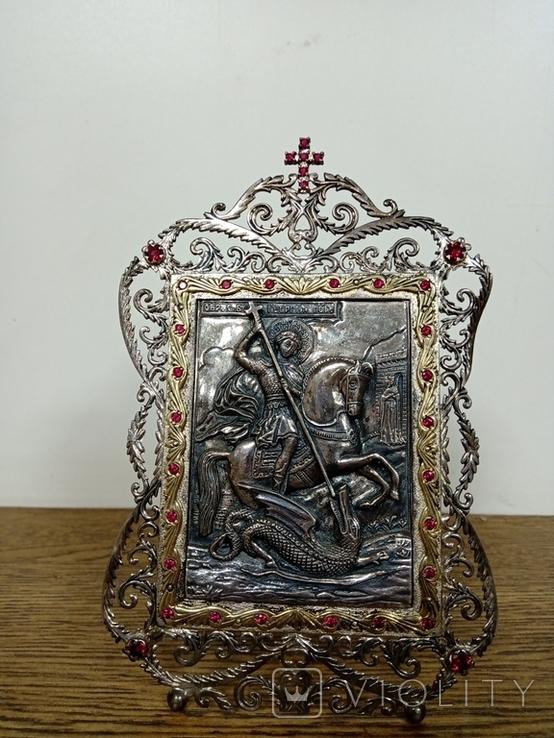 """Икона """"Георгий Победоносец"""", фото №2"""