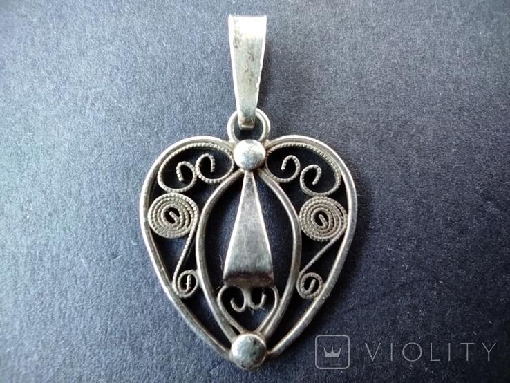 Старий срібний кулончик. 835 пр. Німеччина., фото №2