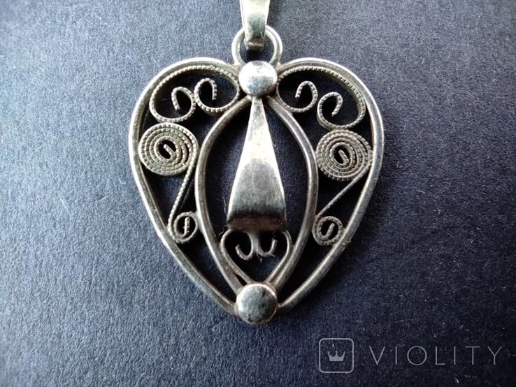Старий срібний кулончик. 835 пр. Німеччина., фото №3
