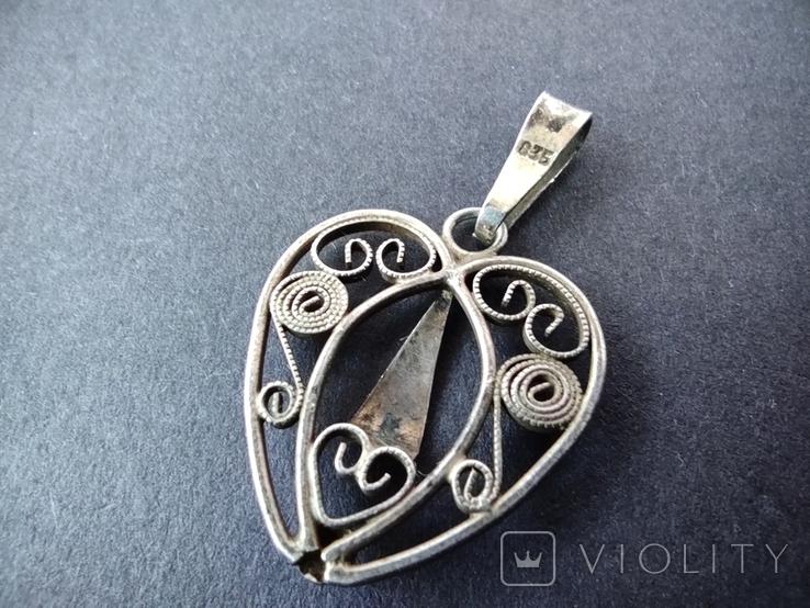 Старий срібний кулончик. 835 пр. Німеччина., фото №5