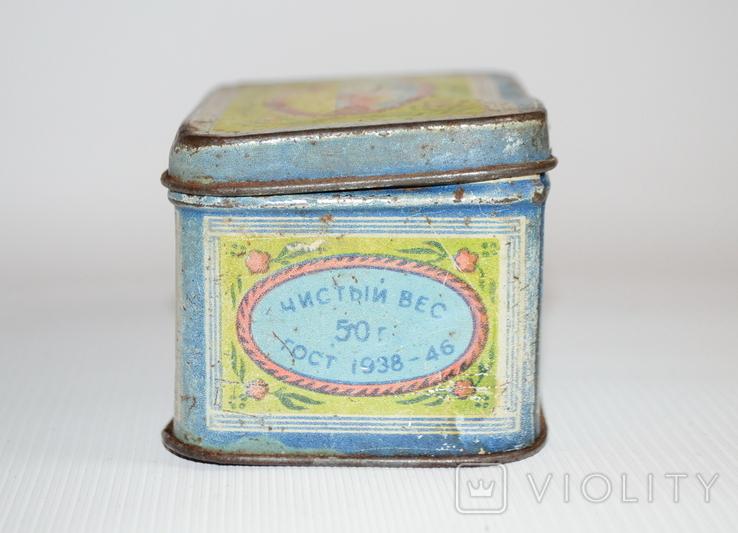 """Коробка для чая """"Грузинский чай"""" Главчай 50 грамм, 1946 год, фото №4"""