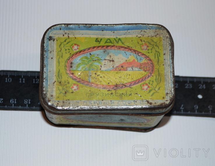 """Коробка для чая """"Грузинский чай"""" Главчай 50 грамм, 1946 год, фото №6"""