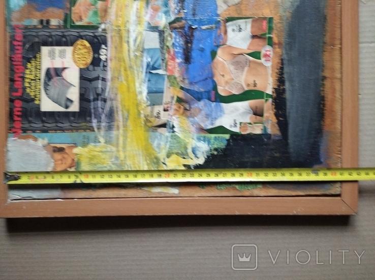 """Дамы""апплик. 41х56 см.Анатолий Шевчук(1951-2008), фото №7"