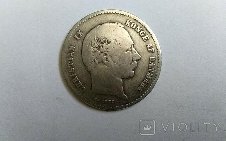 1 крона 1875 г. Дания., фото №2