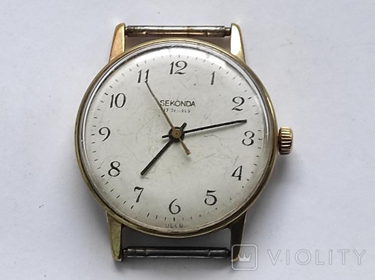 Часы Seconda - Ракета, мужские , АУ 20, СССР., фото №2