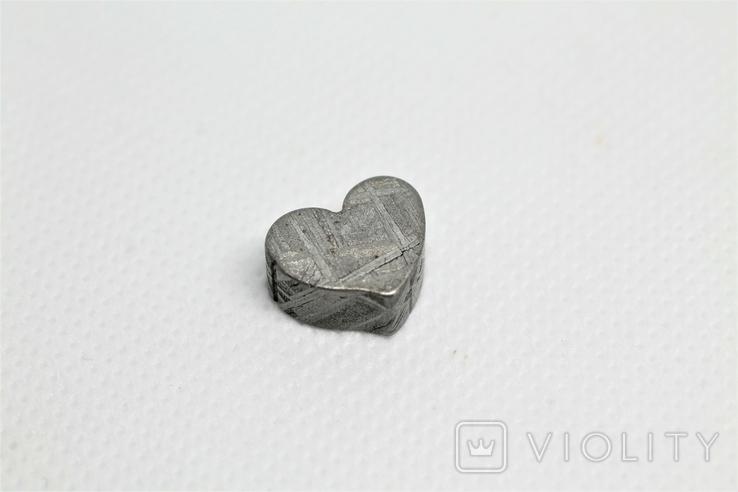 Залізній метеорит Muonionalusta, форма серця, 5,6 грам, сертифікат автентичності, фото №4