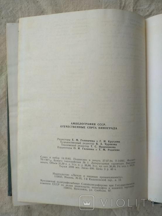 Ампелография ссср 1984, фото №9