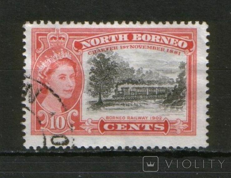 Брит. колонии. Северное Борнео, 75 лет железной дороги, паровоз