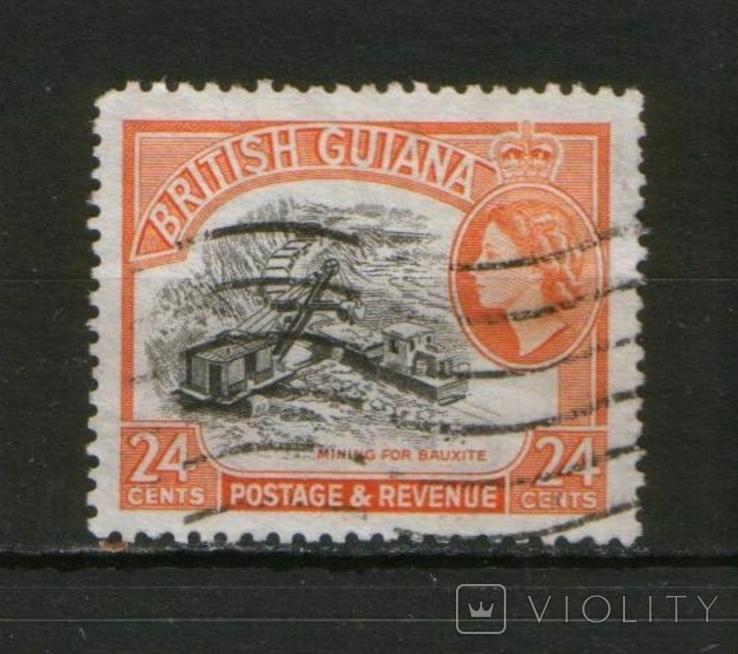 Брит. колонии. Британская Гвиана, добыча бокситов, экскаватор