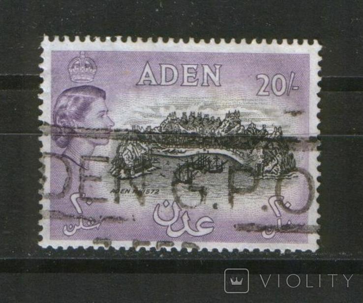 Брит. колонии. Аден, вид 1572 года, высокий номинал, КЦ 20 Евро