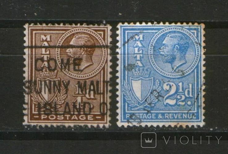 Брит. колонии. 1930  Мальта, король Георг V, лот 2 шт.