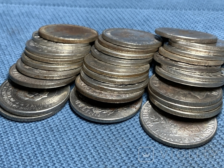 Копии серебрянных монет мира 30 шт одним лотом, фото №4