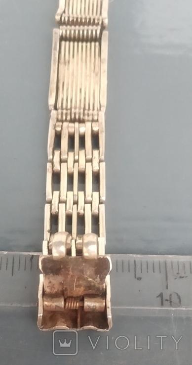 Браслет к часам серебро 875 пробы (ЛФ7) 20 грамм, фото №5