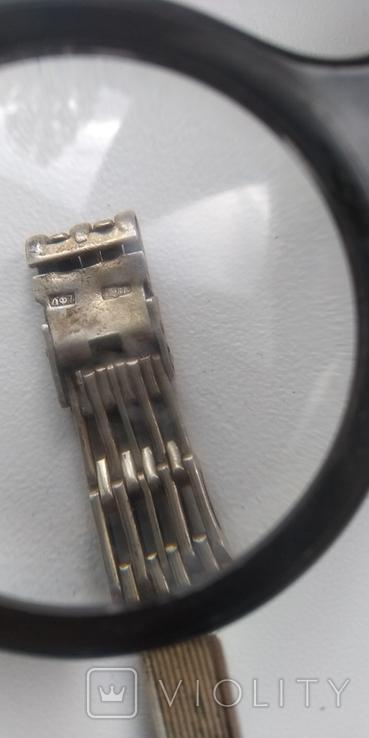 Браслет к часам серебро 875 пробы (ЛФ7) 20 грамм, фото №11
