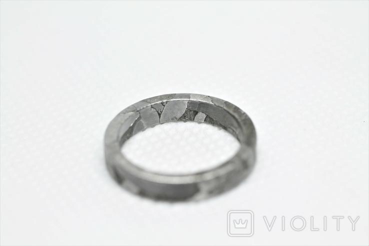 Каблучка із залізо-кам'яного метеорита Seymchan, із сертифікатом автентичності, фото №5