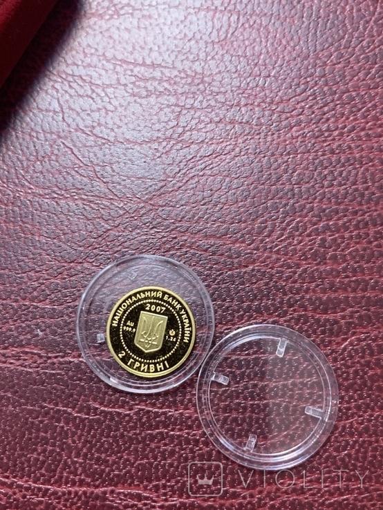 2 гривні Золото 1,24 грама Байбак Бабак 2007, фото №4