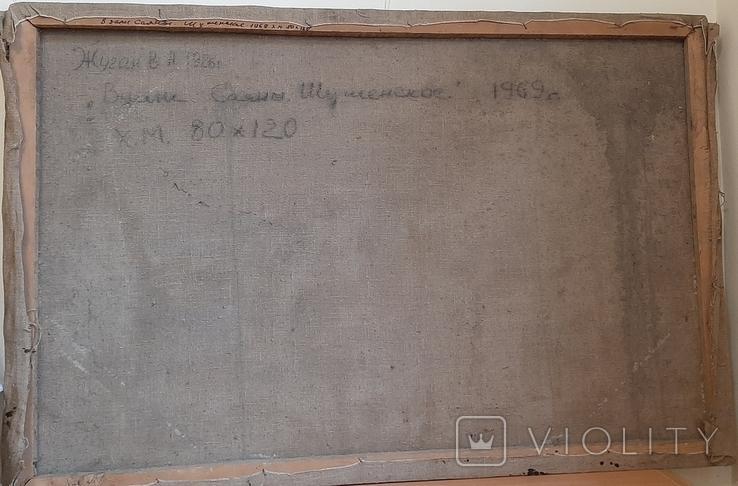 *Вдали Саяны,Шушенское* х/м,80*120.Заслуженный худ.Жуган В.А.,1969г, фото №9