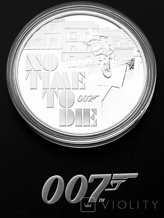 1 доллар. 2020. No Ttme to die Бонд 007. Пруф. (серебро 999, 1 oz), фото №2