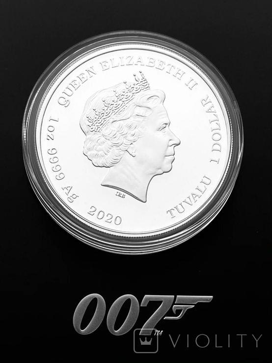 1 доллар. 2020. No Ttme to die Бонд 007. Пруф. (серебро 999, 1 oz), фото №3