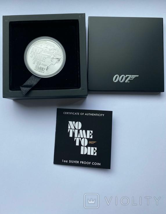 1 доллар. 2020. No Ttme to die Бонд 007. Пруф. (серебро 999, 1 oz), фото №5