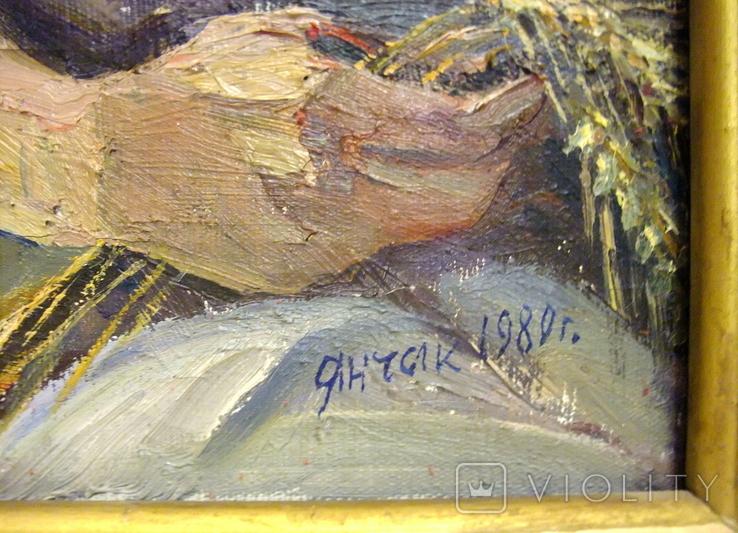 Картина Колосок 1972г. художник Янчак Елена Вацлавовна член Союза Художников УССР., фото №6