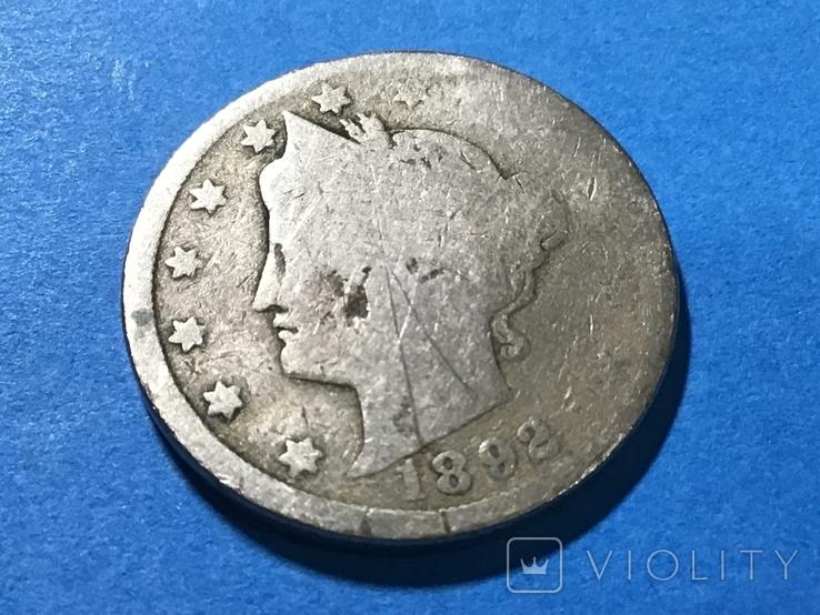 5 центов сша 1892 г., фото №2