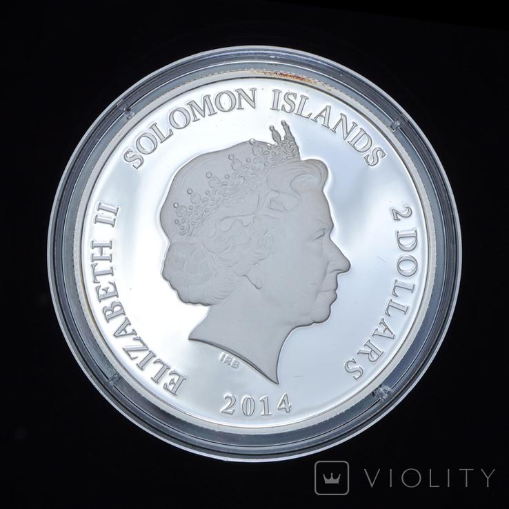 2 Доллара 2014 Нефертити - Древний Египет, Соломонвы Острова, фото №3