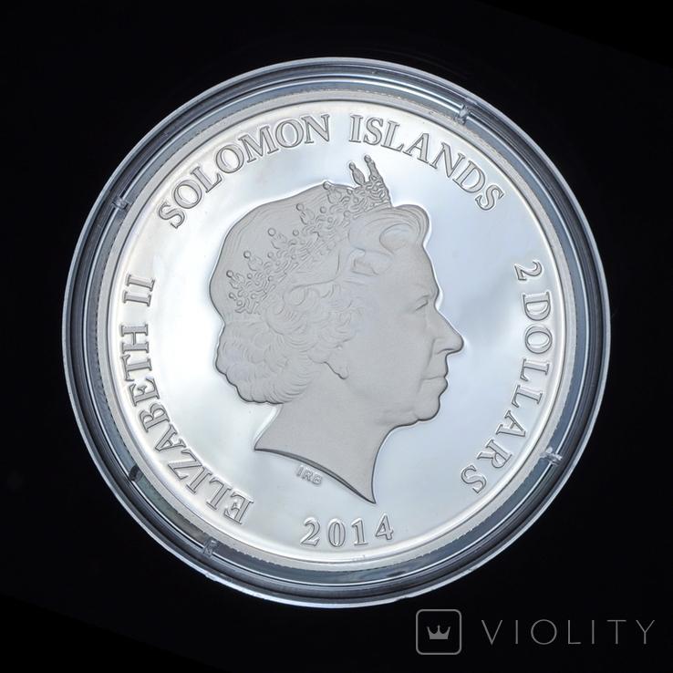 2 Доллара 2014 Тутанхамон - Древний Египет, Соломонвы Острова, фото №3