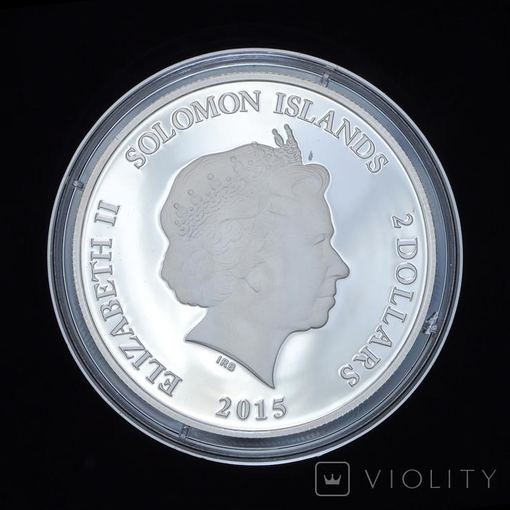 2 Доллара 2015 Анубис - Древний Египет, Соломонвы Острова, фото №3
