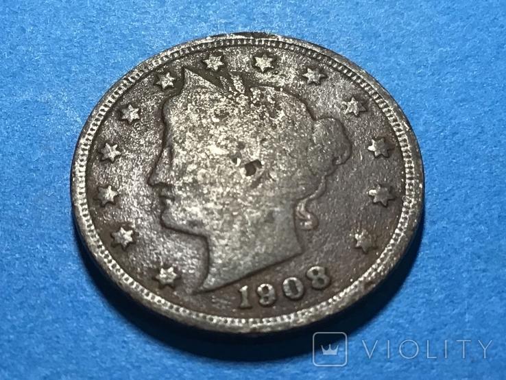 5 центов сша 1908 г., фото №2