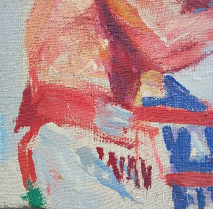 "В.Кнышевский ""На ринге"", х.м.24*37,5см, 1985, фото №4"