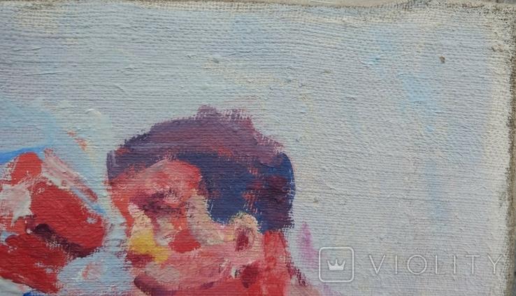 "В.Кнышевский ""На ринге"", х.м.24*37,5см, 1985, фото №6"