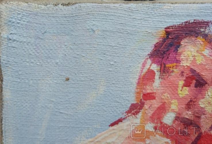 "В.Кнышевский ""На ринге"", х.м.24*37,5см, 1985, фото №7"