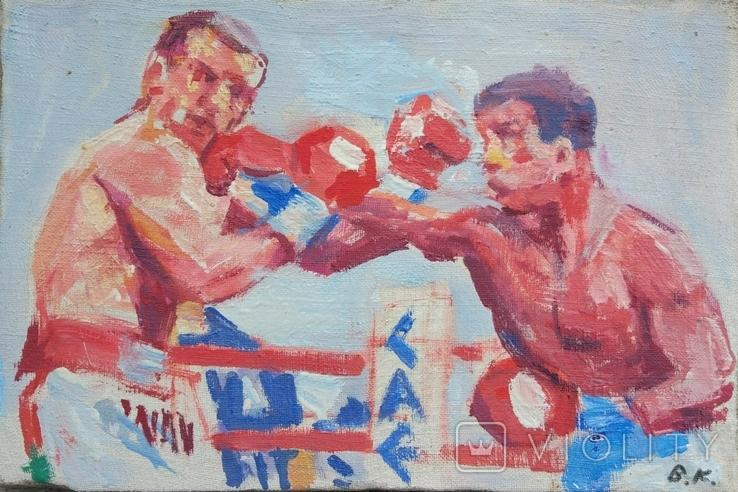"В.Кнышевский ""На ринге"", х.м.24*37,5см, 1985, фото №2"