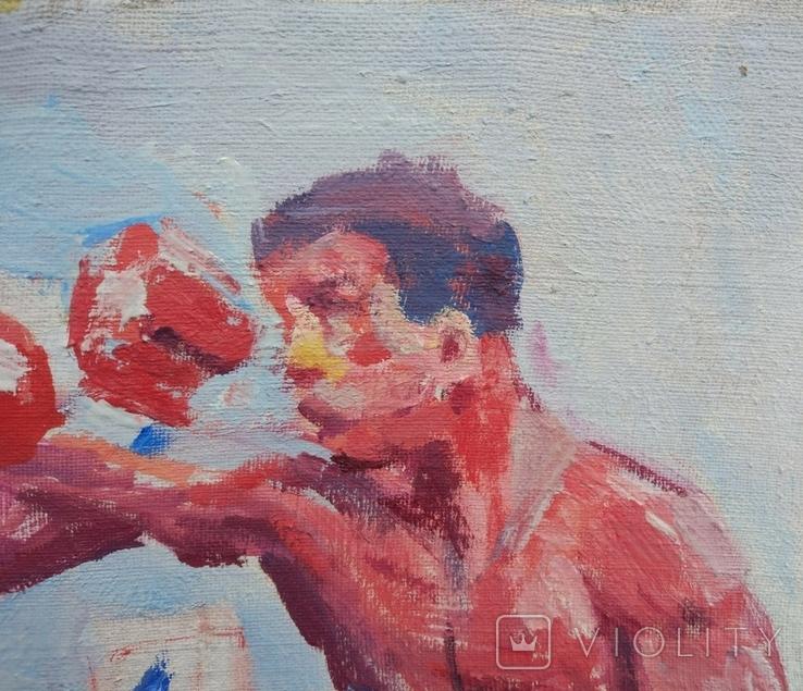 "В.Кнышевский ""На ринге"", х.м.24*37,5см, 1985, фото №9"