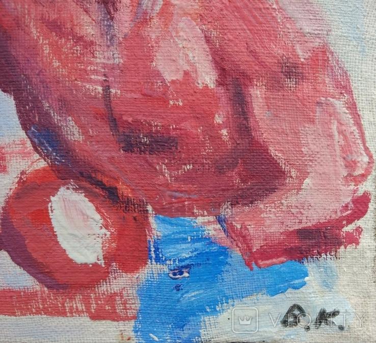 "В.Кнышевский ""На ринге"", х.м.24*37,5см, 1985, фото №11"