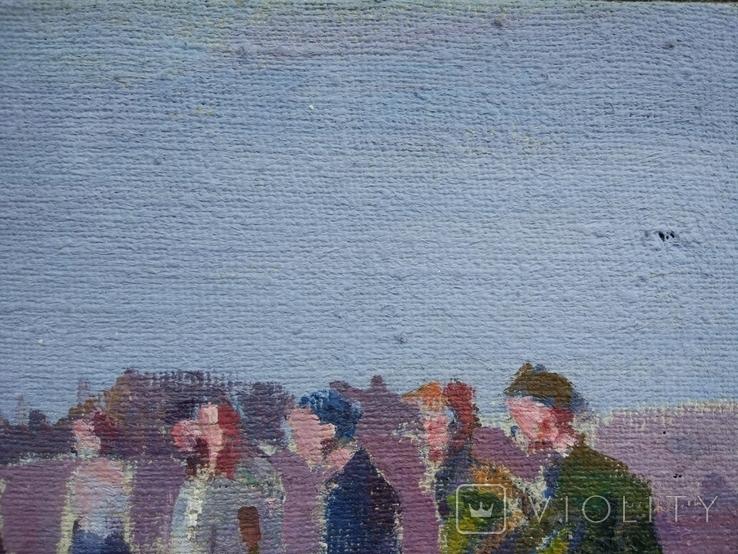 "В.Кнышевский ""Финиш"", х.м.32*54см, 1979г, фото №3"