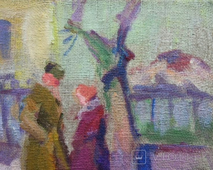 "В.Кнышевский ""Весна"", х.м.30*36см, 1985г, фото №4"
