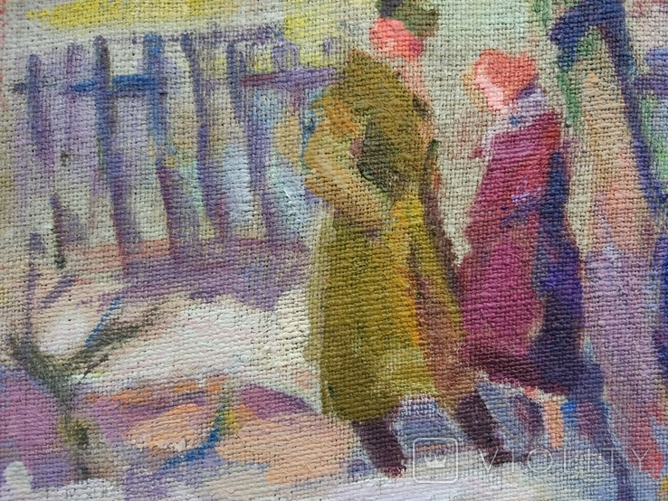 "В.Кнышевский ""Весна"", х.м.30*36см, 1985г, фото №9"