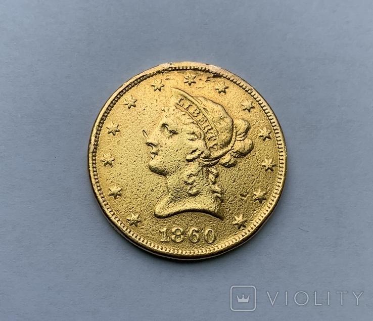 10 долларов 1860 года, фото №2