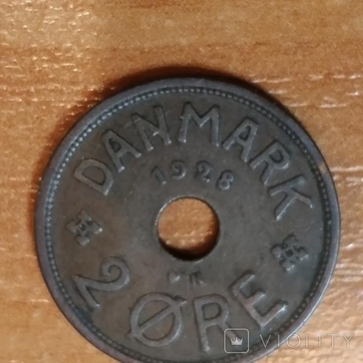 Дания, 2 эре,1928 г., фото №3