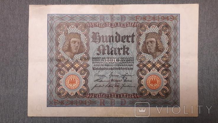 Германия. 100 марок 1920 год., фото №2