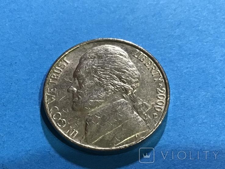 5 центов сша 2000 D, фото №2