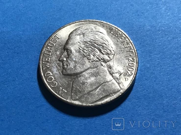 5 центов сша 2002 D, фото №2