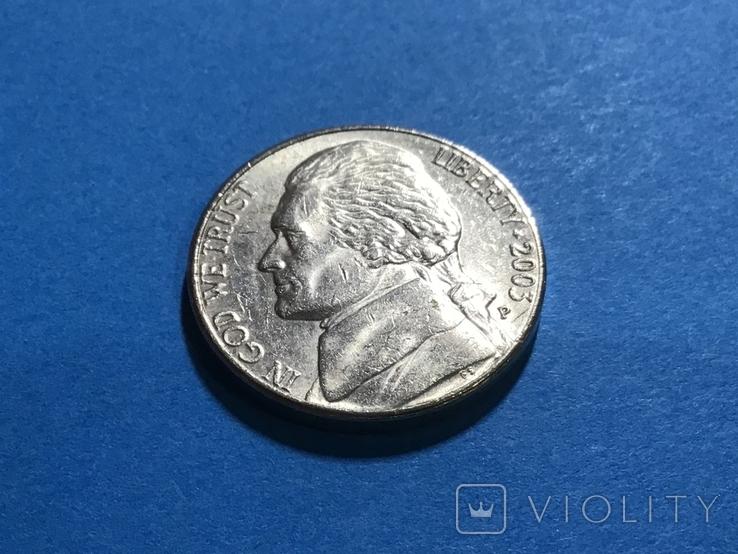 5 центов сша 2003 Р, фото №2