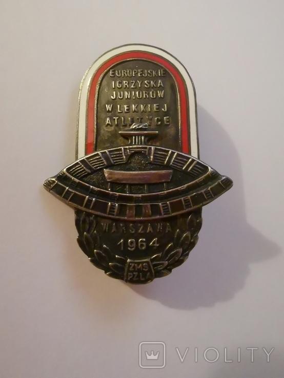 Значок Варшава 1964, фото №2